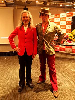 杉山学長と記念撮影